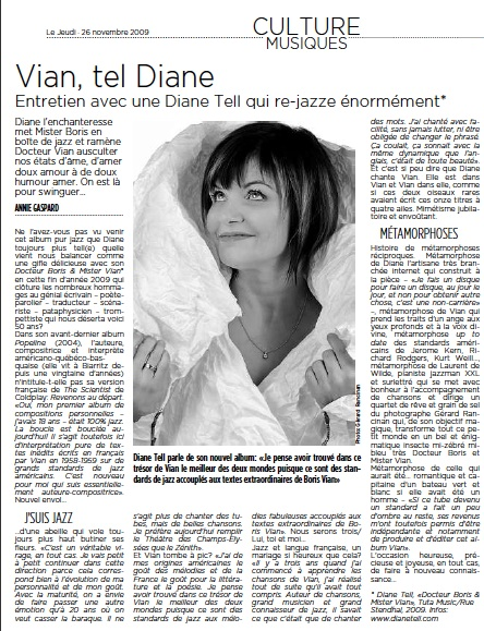 Le jeudi - Diane Tell