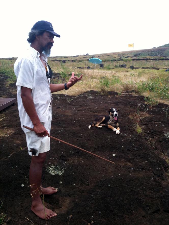 Archeologue et son chien