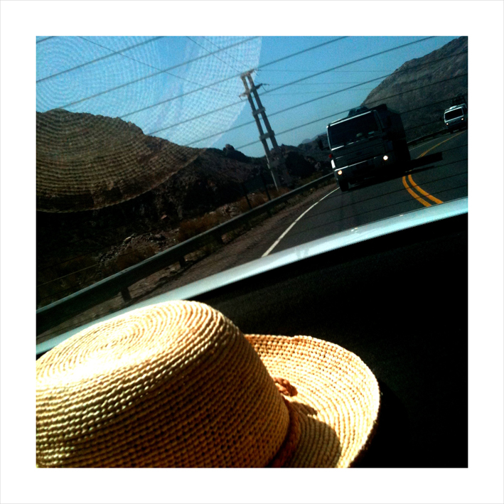 Hat in the car
