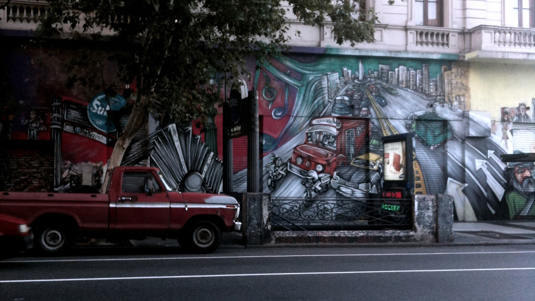 car and graffiti