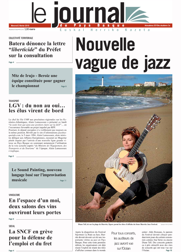 le journal du pays basque 03 f vrier 2010 nouvelle vague de jazz diane tell site officiel. Black Bedroom Furniture Sets. Home Design Ideas