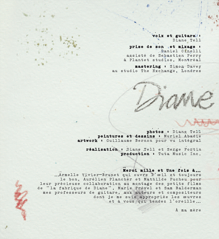 diane tell - UNE - CREDITS w