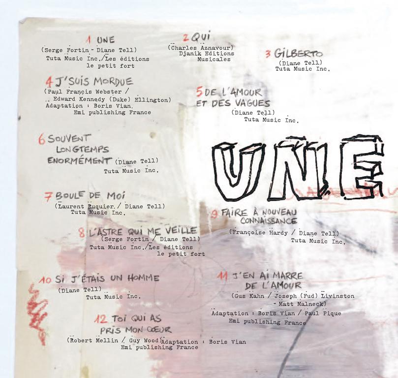 diane tell - UNE - LISTE DE CHANSONS w