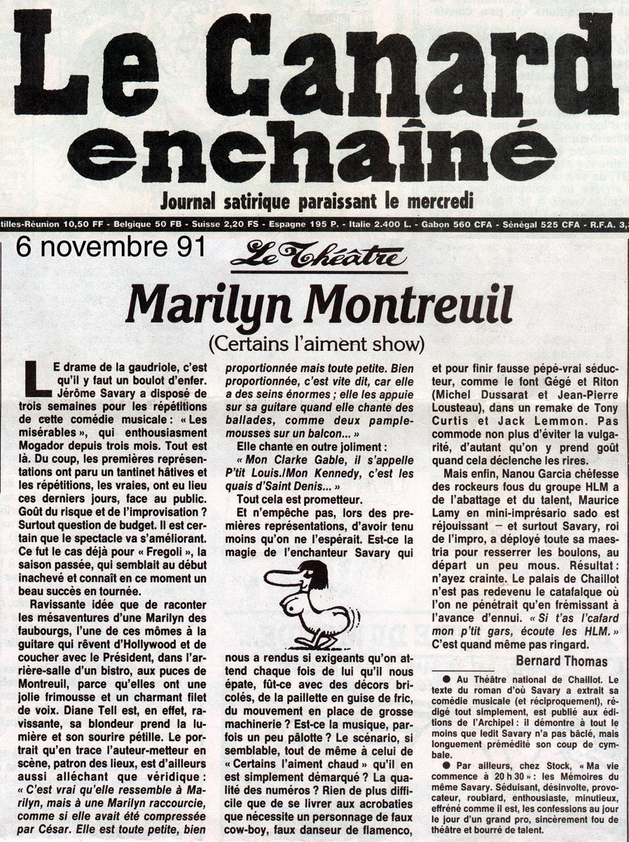 Le Canard Enchainé – Marilyn Montreuil 1991