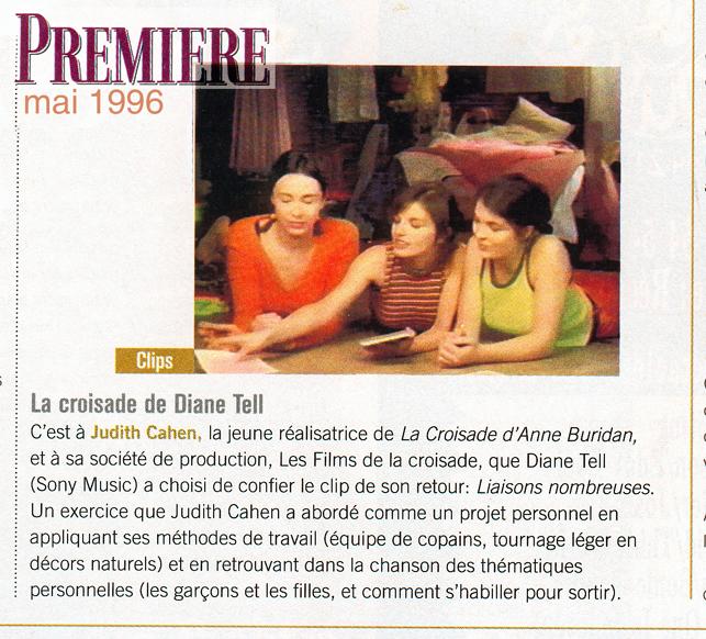 Premiere – Clip Liaisons Nombreuses 1996