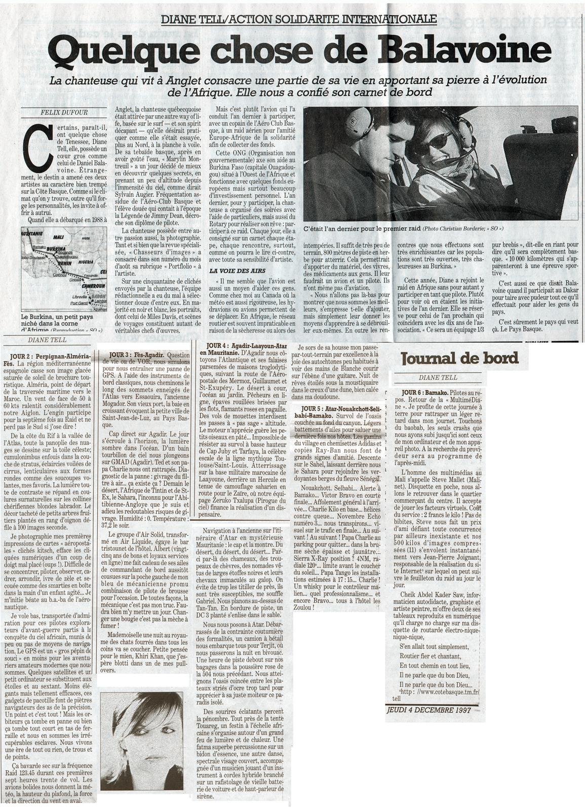 Sud Ouest – Air Solidarité 1997