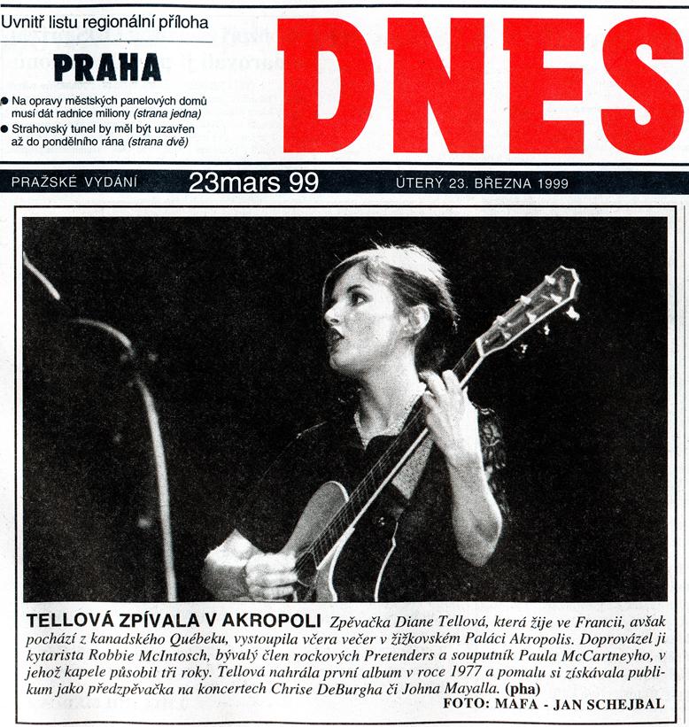 DNES – En concert à Praha 1999