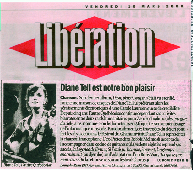 Libération – En Concert au festival Chorus 2000