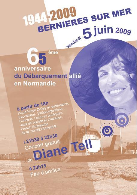 Concert en solo à Bernières-sur-Mer, Normandie