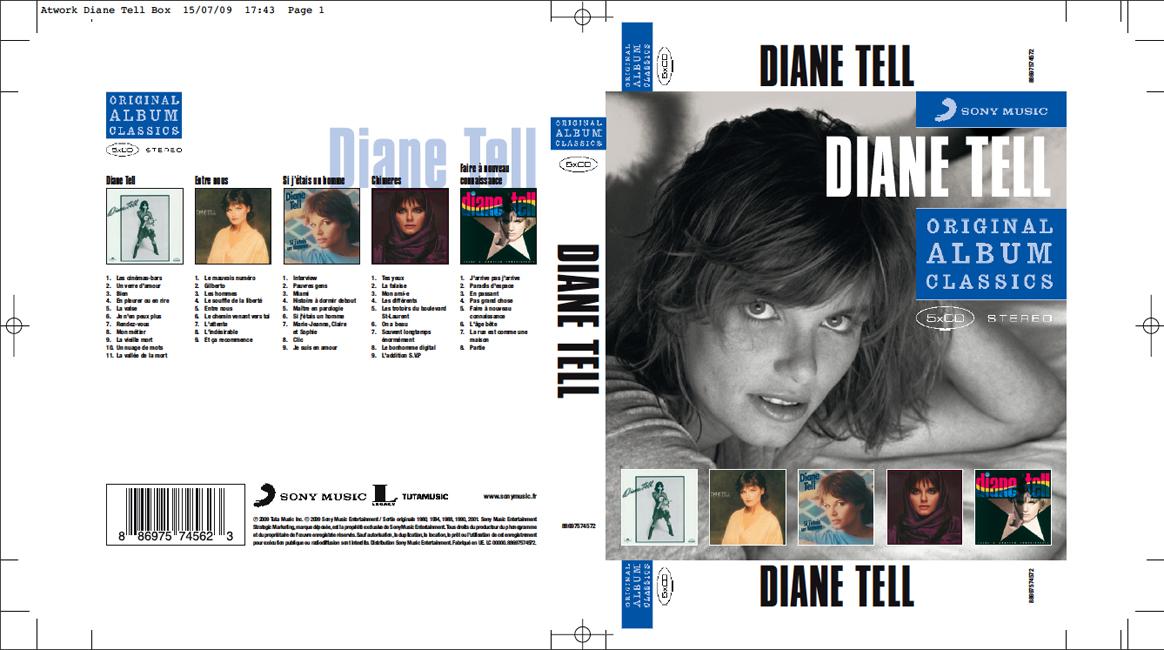 Diane Tell's Original Classics ! Sortie prévue : Sept 2009