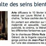 Le culte des seins – Documentaire de Laure Michel – J'y suis avec mes deux seins !!!